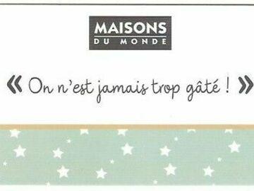 Vente: e-Carte Cadeau Maisons du Monde - Belgique (100€)