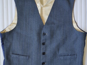 Selling with online payment: Vintage 1940s Bespoke Waistcoat for High Waisted Trousers