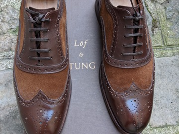 Online payment: Lof & Tung 6.5 (40 EU) amazing two tone spectator shoes