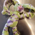 """Selling with online payment: 15"""" Hand Crocheted Stuffed Rabbit"""