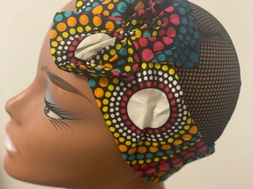 For Sale: Multicoloured Bow Ankara print headband