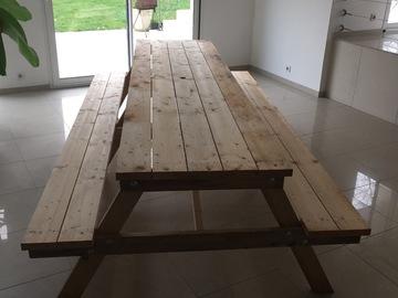 Vente: Vend table en bois sur mesure 100€ le Mètre