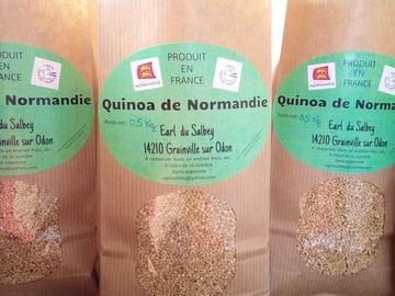 Vente avec paiement en direct: Quinoa cultivé et récolté dans le Calvados