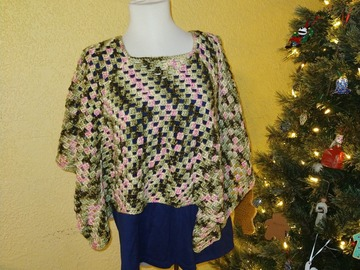 Selling with online payment: Handmade Crochet Poncho