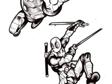 Tattoo design: Marvel - Iron Man or Deadpool