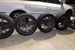 Selling: Gun metal grey niche m129 targa wheels