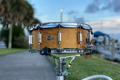 Selling with online payment: ASBA Drums 'Rive Gauche' Snare Drum 6x14 in Elvin Jaune Finish