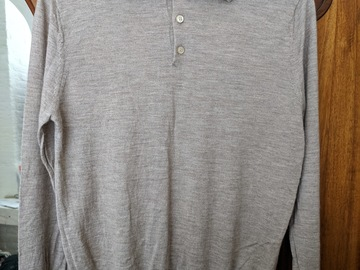 Online payment: Ballantyne cashmere/silk long sleeve polo - size 38 / 48