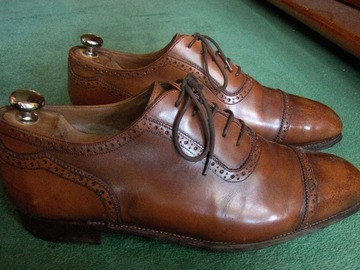 Online payment: Medium brown/tan Oxfords - 11 UK - Meermin