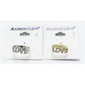 """Buy Now: 24 Piece Gold & Silver Rhinestone """"LOVE"""" Rings NWT"""