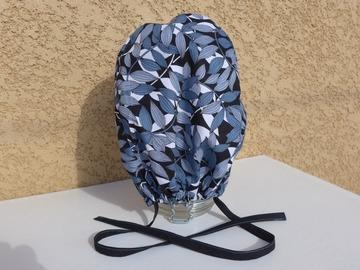 Vente au détail: Calot chirurgical, chapeau de bloc en  coton motif végétal gris