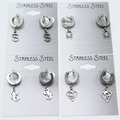 Buy Now: 24 Assorted Stainless Steel Stud Earrings Many Different Styles