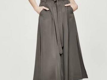 Selling: Khaki midi skirt size 10