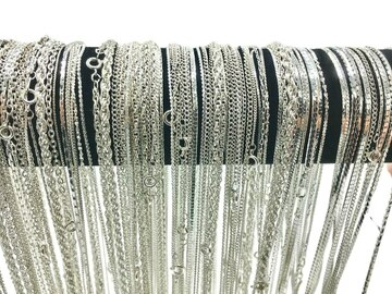 Buy Now: 72 Piece Chain Assortment Sterling Silver Finish MADE IN USA