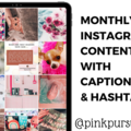 Offering online services: One Month of INSTAGRAM Content + captions and hashtags