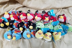 Buy Now: Angry Bird Plushies Backpack Book Bag Clips Lot of 22