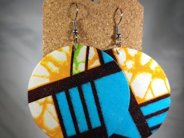 Selling with online payment: SALE: Paper and Fabric Earrings