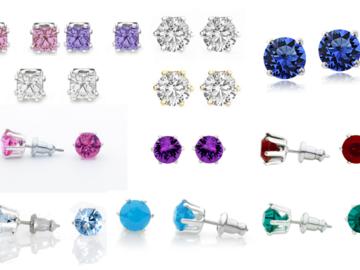 Buy Now: 24 Pair Stud earrings our Best Sellers Swarovski Elements Jewelry