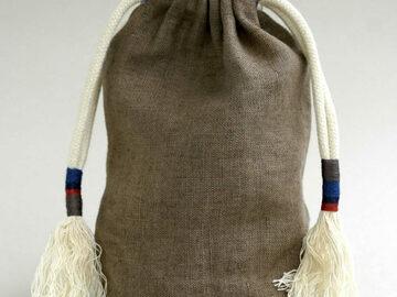 : Khaki Linen Pouch