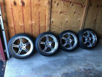 Selling: Porsche Wheels/Tires 8.5/11 x 20 5x130