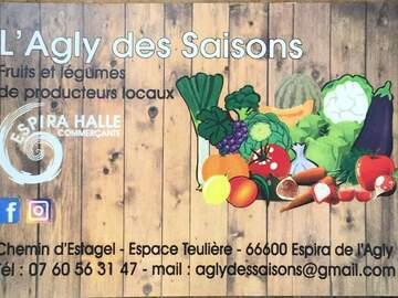 Vente avec paiement en direct: Vente de fruits,légumes et produits locaux