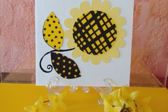 Selling with online payment: 3D Sunflower Birthday Card