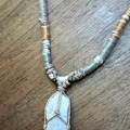 : Wrapped Quartz Necklace