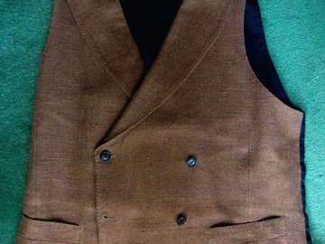 Online payment: Brown double-breasted waistcoat - 38 UK - Suitsupply