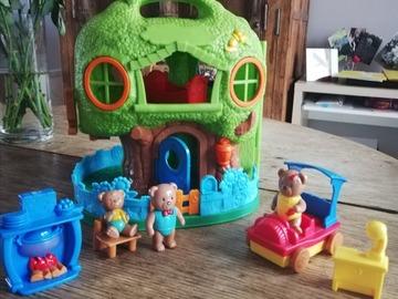 Vente avec paiement en ligne: Maison et sujets petit ours brun