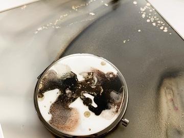 : The Black Forrest - pocket mirror / mirror case