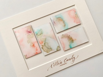 : Cotton Candy - Original art magnets