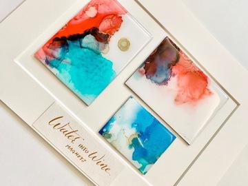 : Water into Wine - Original art magnets
