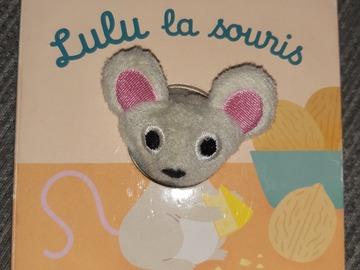 """Vente avec paiement en ligne: Livre marionnette """"Lulu la souris"""""""