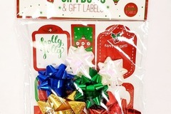 Liquidation/Wholesale Lot:  Holiday 12-Piece Gift Bow And Gift Label Set
