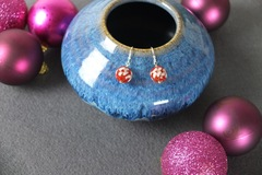 Selling with online payment: Red Cloisonné Earrings