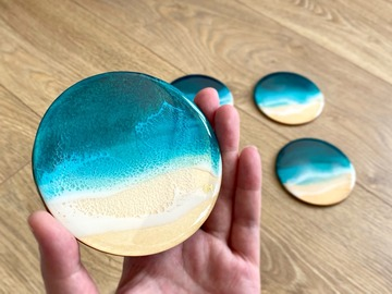 : Ocean Coasters - Turquoise (set of 6)