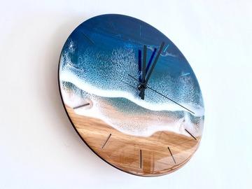 : Wall Clock - Blue Diamond