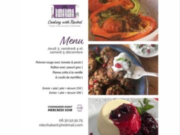 Offering: Le menu pour ce week-end. Plein de couleurs et saveurs.