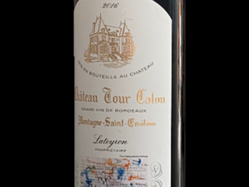 Vente avec paiement en direct: Château Tour Calon 2016 (Montagne Saint Emilion)