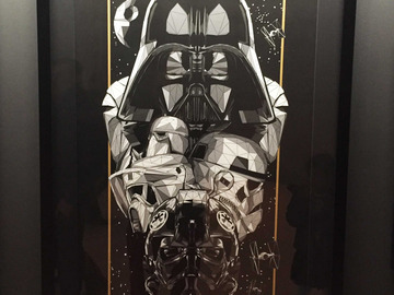 Vente: Oeuvre d'art STAR WARS Dark side - numerotée à 100 ex.