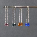 Selling with online payment: Faceted Long Drop Earrings