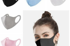 Buy Now: 100 Adult cloth face masks. Assorted colors. Washable