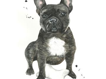 : Custom Pet Portrait - Commission Painting (A3 size)