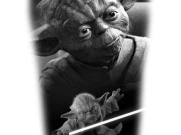 Tattoo design: Star Wars - Yoda