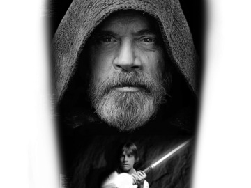 Tattoo design: Star Wars - Luke Skywalker