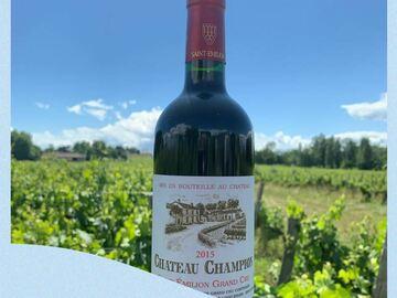 Vente avec paiement en direct: ST-EMILION GRAND CRU CHÂTEAU CHAMPION 2015 carton de 6 bouteilles