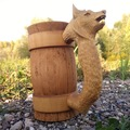 Selling with right to rescission (Commercial provider): Wooden mug with wolf as handle