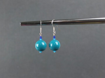 Selling with online payment: Acrylic Teal Earrings
