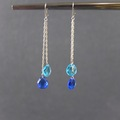 Selling with online payment: Blue Briolette Crystal Earrings
