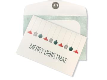 : 'Merry Christmas' Christmas card